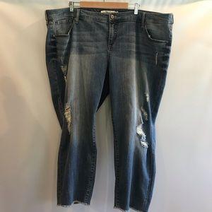 Torrid Boyfriend Fit Distressed Jeans